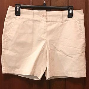 LOFT Khaki Riviera Shorts Size 0